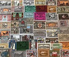 Lot 50 Original alte Notgeld, Not Geldscheine, Stadtgeld