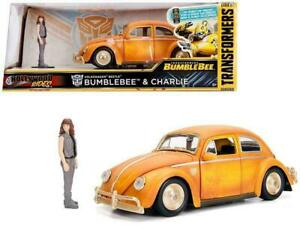 1:24 Charlie w/Bumblebee VW Beetle -- Transformers -- Hollywood Rides JADA