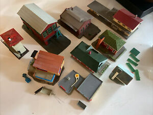 N Scale Model Buildings Lot 9 Faller Pola Roco Bachmann Shell Station Warehouse