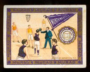 1910 BASKETBALL Player TOBACCO Card T51 North Western Murad Cigarettes ORIGINAL