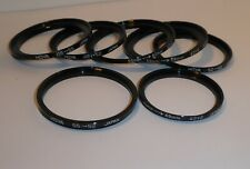 8 AUTHENTIC HOYA STEP UP STEP DOWN FILTER ADAPTER RINGS