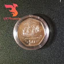 2004 batalla de Trafalgar cincuenta peniques ~ Universal en cápsula monedas raras ~ 50p
