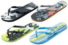 Mens Flip Flops Surfing Beach Design Sandals Green Black Blue Gray NEW