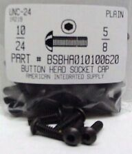 #10-24x5/8 Button Head Hex Socket Cap Screws Alloy Steel Black (37)
