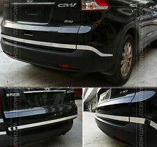 3PC FIT FOR HONDA CR-V CRV CHROME REAR TRUNK BOOT DOOR BUMPER CORNER COVER TRIM