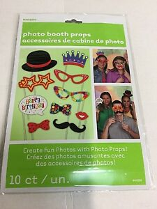 10 PHOTO BOOTH PROPS - BIRTHDAY - SELFIE - PARTY - PHOTOGRAPHY
