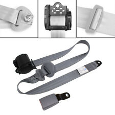 Grey 3 Point Seat Belt Lap & Diagonal Belt Extra long adjustable nylon straps