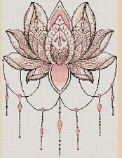 Colourful Fractal Mandala 420c3  Cross stitch chart FlowerPower37-uk