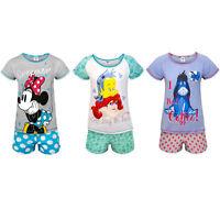 Disney Minnie Mouse Eeyore Little Mermaid Official Gift Ladies Short Pajamas