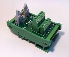 IDC-10 Male Header Breakout Board Screw Terminal Adaptor DIN rail mounting