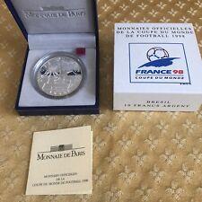 Monnaie De Paris Pièce De 10 Francs Arg. BE Coupe Du Monde De Football 1998