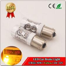 2x 50W BA15S Cree Light Bulbs P21W S25 1156 Auto Car Yellow Reverse Lights DC12V