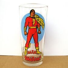 1976 Shazam Pepsi Glass DC Comics Super Series Vintage Hero 70s Advertising