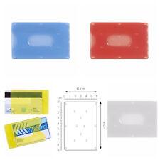 5 PZ - PORTA CARTE CREDITO PLASTICA RIGIDA CARD TESSERA BANCOMAT VISA PATENTE