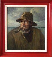 NIELS WALSETH (1914-2001) FISCHER AM STRAND - MEER