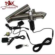 "Catback Downpipe Cutout 2.25"" Exhaust Valve System Electric + Switch Control"