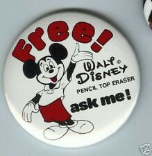 old PENCIL top ERASER Premium pin MICKEY MOUSE