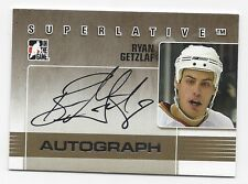 2009-10 In The Game autographed hockey card Ryan Getzlaf, Anaheim Ducks 1 of 50