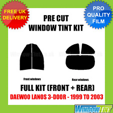 DAEWOO LANOS 3-DOOR 1999-2003 FULL PRE CUT WINDOW TINT KIT