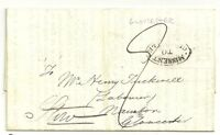 # 1829  LONDON LEGACY DUTY LETTER TO STOW  HANDSTRUCK OVAL MISSENT TO GLOUCESTER