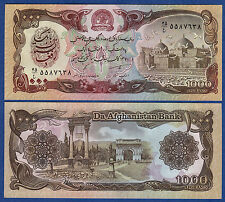 Afghanistan 1000 P 61 c (1991) UNC Low Shipping! Combine FREE!