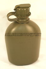 NEW, US MILITARY 1 QUART PLASTIC CANTEEN with NBC/M-1 Cap, OD GREEN