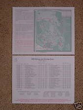 *2009 MASTERS Pairing Sheet Tiger Woods/Phil Mickelson*