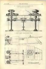 1893 Ss Lucania Anchor Windlass Steamship Great Britain At Sea 1845