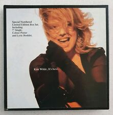 """KIM WILDE IT'S HERE NUMBERED 7"""" BOX SET WITH POSTER AND LYRIC BOOKLET"""