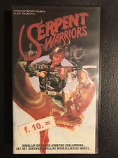 Serpent Warriors VHS Tape English with dutch subs Horror