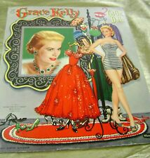 VTG PAPER DOLLS ORIGINAL1956 GRACE KELLY WHITMAN MOVIE STAR 1950s 85% UNCUT!!!!