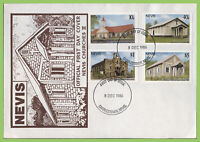 Nevis 1986 Churches set on First Day Cover