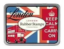 Cavallini - Tin of Rubber Stamps - London - Set of 3 Stamps