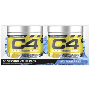 2 X Cellucor C4 ORIGINAL ID SERIE PreWorkout Fat burner Twin Pack 60 serve total