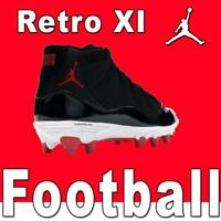 NIKE AIR JORDAN RETRO XI TD 11 FOOTBALL CLEATS LOW BLACK MID BRED AO1561-010 17