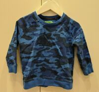 MOUNTAIN WAREHOUSE BLUE CAMO PRINT SWEATSHIRT AGE 2-3 GREAT CONDITION