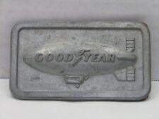 Vintage GoodYear Blimp Pewter Belt Buckle 1974