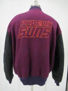 L6147 VTG DeLong NBA Phoenix Suns Basketball Sport Varsity Jacket Size 2X