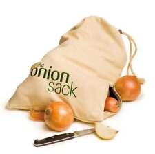 NEW Eco Friendly Onion Storage Sack 100% Breathable Cotton