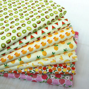 One PC Fruit  Animal Cotton Fabric Pre-Cut Cotton Fabric For Sewing Home textile