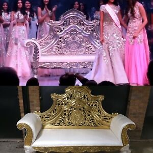 GIANT GOLD WEDDING SOFA / LOVE SEAT  FOR HIRE/ DOUBLE THRONE CHAIR HIRE