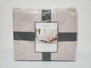 Threshold Beige Linen Blend Textured Jacquard Quilt Comforter - Full / Queen