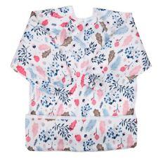 Baby Bib Feeding Waterproof Long Sleeve Shirt Painting Pocket For Girls 1 to 3 Y