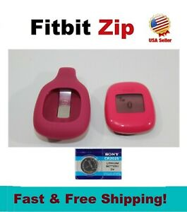 Fitbit Zip Wireless Activity Tracker + Extra Battery, Black Magenta Blue Lime