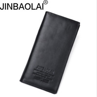 Men Leather Clutch Business Wallet Bank Credit Card ID Holder Long Purse New