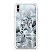 Divine Majestic White Tiger Tremendous Wonderful Waterfall 2D Phone Case Cover