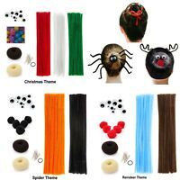 Kids Crafts Hair Accessory Costume Spider Reindeer Christmas Chenille Stems Pipe