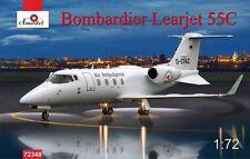 1/72 Bombardier Learjet 55C Longhorn business jet airliner - AModel 72348