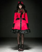 SALE! - Punk Rave -Gothic Lolita Dolly Coat - Kawaii Winter Jacket - Red