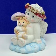 Dreamsicles figurine chalkware cherub angel signed calendar collection April vtg